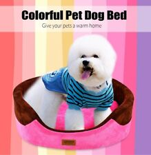 Soft Washable Pet Puppy Dog Cat Bed House Nest Pad with Removable Cushion S/M