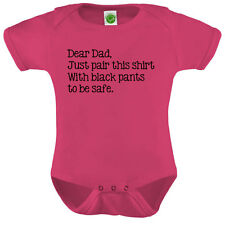 Dear Dad Onesie ORGANIC Cotton Romper Baby Shower Gift Funny Present