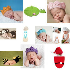 Crochet Knitted Baby Hat Cap Diaper Monkey Photography Prop Costume Set