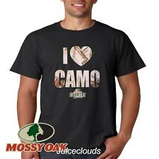 Mossy Oak T-Shirt I Heart Pink Camo Camouflage Woods Hunting Men's Tee