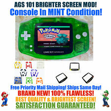 Nintendo Game Boy Advance GBA Green System AGS 101 Brighter Backlit Mod MINT