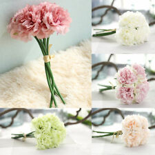 5X Colorful Artificial Flower Fake Peony Bridal Bouquet Wedding Home Room Decor