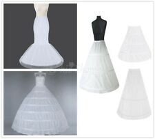 3 Hoops White Prom Petticoat Underskirt Crinoline Slip Skirt Wedding Flower Girl