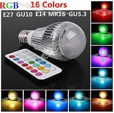 RGB 16colors LED magic light bulb lamp IR remote control 3W E27/GU10/E14/B22