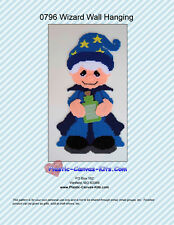 Wizard Wall Hanging-Halloween-Plastic Canvas Pattern or Kit