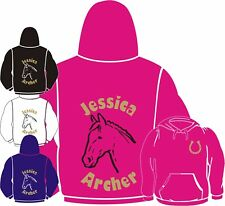 HORSE HOODY Personalised with your name & Horse name HOODIE