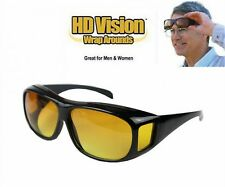 HD Vision Glasses Over Wrap Around Sunglasses Men Night Driving UV400 Protective