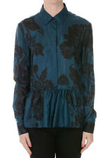 DRIES VAN NOTEN New Women Blue Blouse in Silk Original NWT