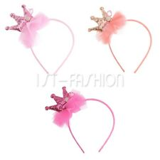 3Pcs Kids Baby Girl Toddler Sequin Crown Headband Bow Hair Band Hair Accessories
