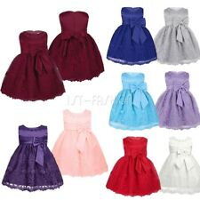 Girl Baby Princess Party Dress Wedding Birthday Baptism Formal Flower Girl Dress