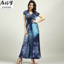 Plus Size maxi long dress women's clothing Boho tunic  vestidos ladies