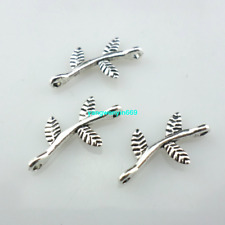 120/1000pcs Tibetan Silver earring tree leaf Connectors Crafts Spacer Beads