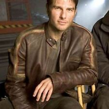 War Of The Worlds Tom Cruise Biker Real Leather Jacket