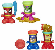 New Play Doh Marvel Can Heads Spider-Man Green Goblin Captain America Iron Man