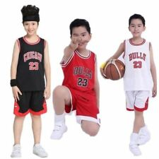 Kids Cool Boy Girl #23 Michael Jordan Chicago Bulls Basketball Jerseys Short Set