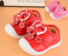 New Winter Baby Walking Shoes Infant Girls Toddler Warm Shoes Squeaky Size 4-7