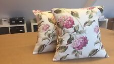 ONE  LAURA ASHLEY HANDMADE CUSHION IN HYDRANGEA PINK