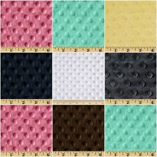 Stretch Velvet Fleece Fabric Softee Dot 60'' W Sold By The Yard Many Colors