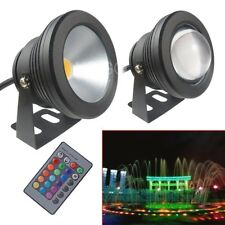 New 12V 10W Underwater LED Flood Pool Waterproof Light Spot Lamp Outdoor Black