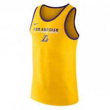 Nike NBA Los Angeles Lakers Dry Logo Tank Top NEW men 870454-728 yellow purple