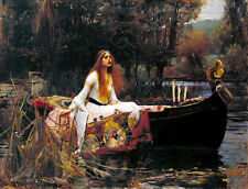 The Lady Of Shalott Painting by John William Waterhouse Art Reproduction