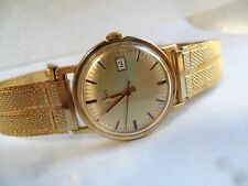 Clean Vintage 1970's Men's Timex Gold Tone Mechanical Watch w/ Matching Band