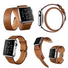 Genuine Cow Leather Watchband Band Strap Bracelet For Apple Watch iWatch 38/42mm