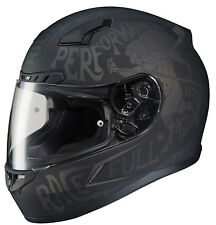 HJC Adult CL-17 Rebel Matte Black/Grey Full Face Motorcycle Helmet Snell DOT