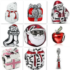 Hot 1pcs Silver Christmas European Charm Beads Fit 925 Necklace Bracelet Chain