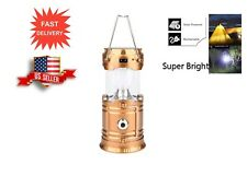Rechargeable Camping Lantern Flashlight Solar Portable Outdoor LED lights-1 Pack