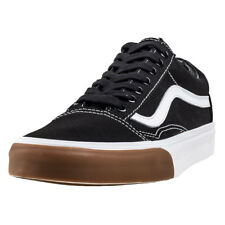 Vans Old Skool Gum Bumper Mens Trainers Black White New Shoes