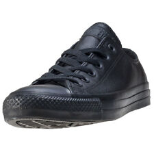 Converse All Star Leather Ox Womens Trainers Black Black New Shoes