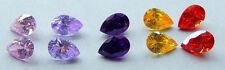 6x9 mm Pear Shaped  Cubic Zirconia  Colored Stones ONE PAIR - assorted colors