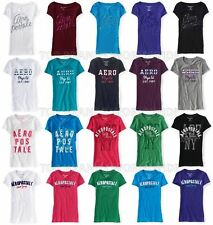 AEROPOSTALE WOMENS T-SHIRT EMBROIDERED SEQUIN LOGO NY CREW TOP TEE SHIRT NWT