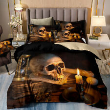 Skull Duvet/Quilt/Comforter Cover Set Twin Full Queen King Size Pillow Case NEW