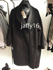 ZARA WOMAN LONG COAT WITH WRAPAROUND COLLAR BLACK XS-XL REF. 8282/824