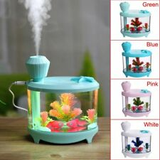 Fish Tank Mist Humidifier Ultrasonic Colorful Home Night Light Purifier 4Color