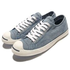 Converse Jack Purcell LP L/S OX Blue White Mens Casual Shoes Sneakers 154145C