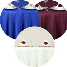 """10 Pack 70"""" Round Seamless Polyester Tablecloth Wedding Party Table Linens"""