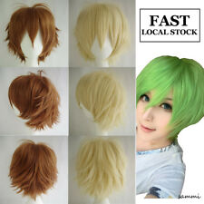 Cheap Unisex Anime Cosplay Full Wig Short Heat Resistant Costume Wigs Halloween