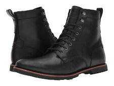 Men's Timberland Kendrick Side-Zip Lace Boots Black Leather A1N19