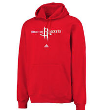 adidas Houston Rockets Red Logo Pullover Hoodie Sweatshirt - NBA