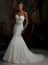 WEDDING DRESS - SO LOVE- WEDDING DRESS - Lace white mermaid