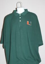 University of Miami Hurricanes NCAA Golf Polo Green Shirt Adult / Mens Size Med