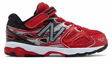 New Balance Hook and Loop 680v3 Infant Boys Shoes Red with Black