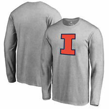 Fanatics Branded Illinois Fighting Illini Ash Primary Logo Long Sleeve T-Shirt