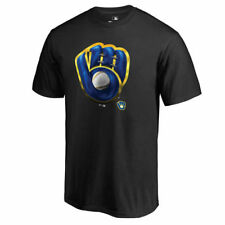 Fanatics Branded Milwaukee Brewers Black Midnight Mascot T-Shirt - MLB