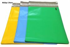 75 BLUE, GREEN & YELLOW POLY SHIPPING BAGS 6 x 9 MAILER PLASTIC ENVELOPE MAILING