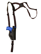 NEW Barsony Vertical Brown Leather Shoulder Holster Springfield Comp 9mm 40 45