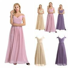 Women Long Formal Prom Dress Cocktail Party Ball Gown Evening Bridesmaid Dress F